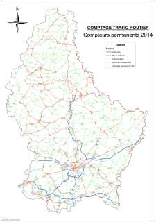 Comptage Trafic Routier - Compteurs permanents 2014